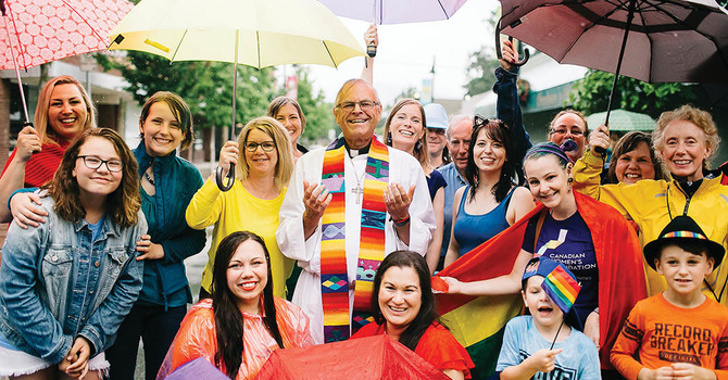 D of NW Priest Participates in Rainbow Photo image