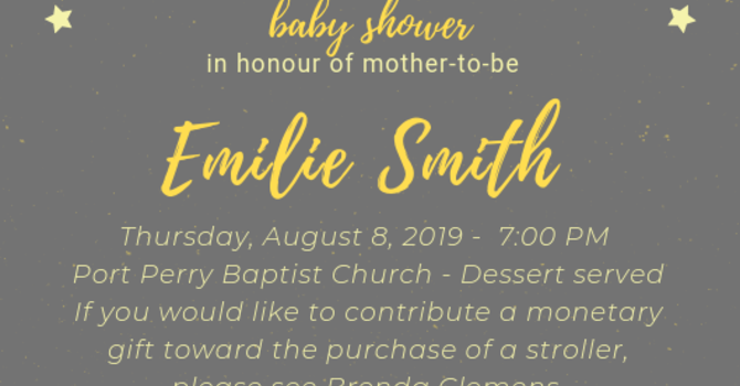 Baby Shower for Emilie Smith