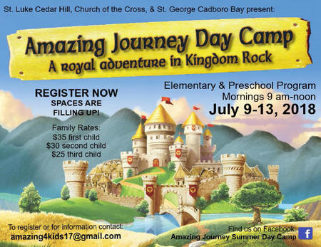 Amazing Journey Day Camp - Still Spaces Available!