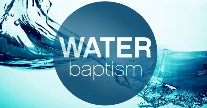 OUTDOOR SERVICE AND WATER BAPTISM image