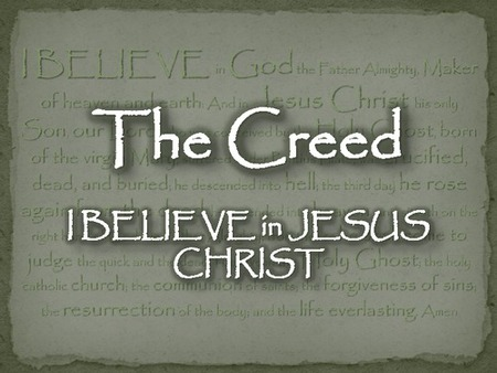 Study Series: The Apostles' Creed