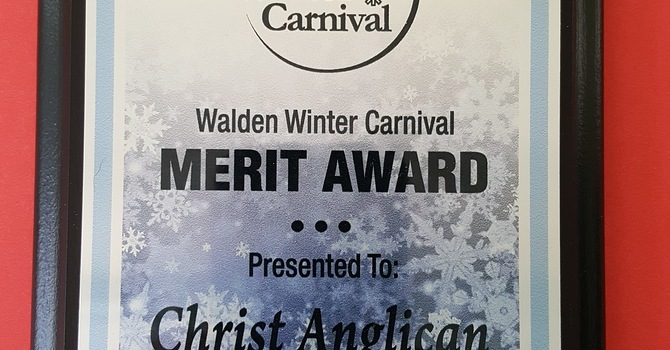 Christ Church Receives an Award from the Walden Winter Carnival Committee image