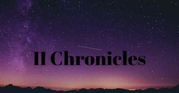 II CHRONICLES