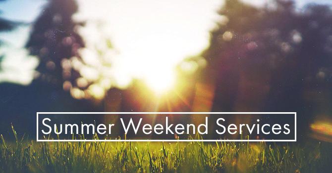 Summer Service Schedule image