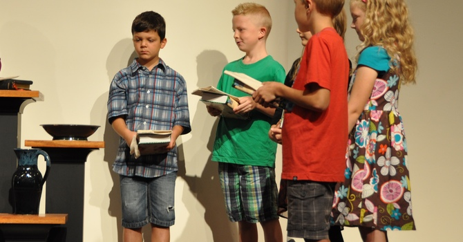 Children Gifted with a Bible image