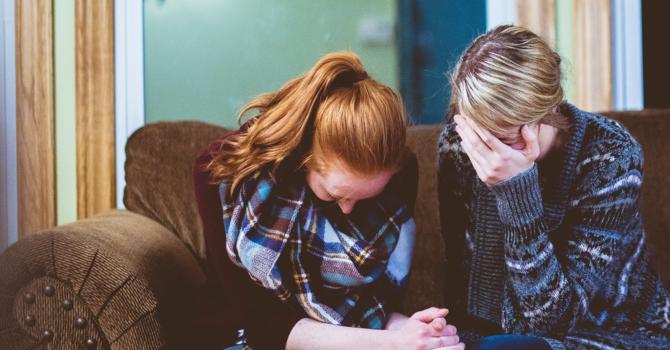 Praying together - evening prayer meeting