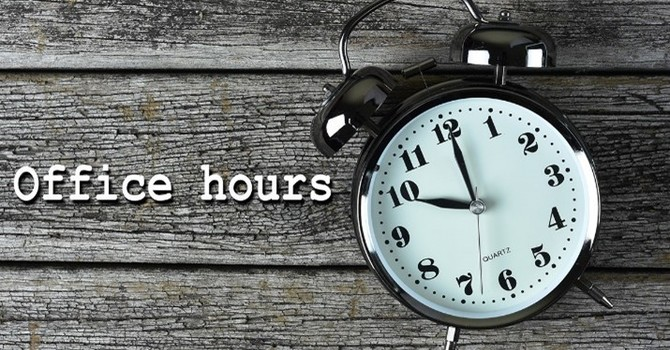 Change in Church Office Hours image
