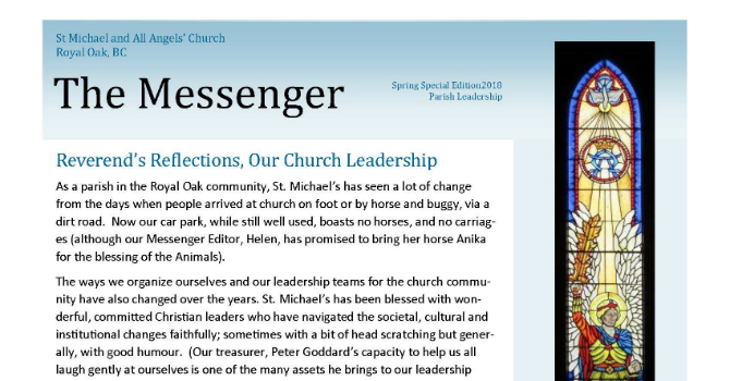 Parish Newsletter Sets Great Example image