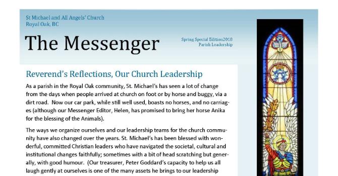 Parish Newsletter Sets Great Example image