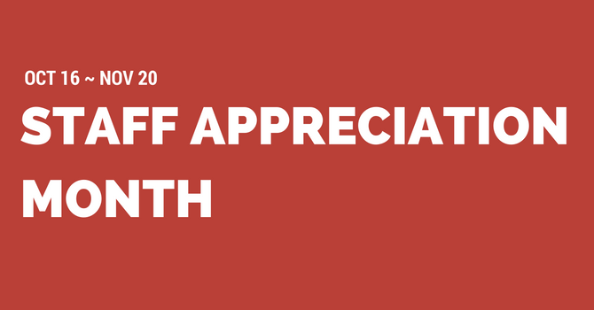 Staff Appreciation Month image