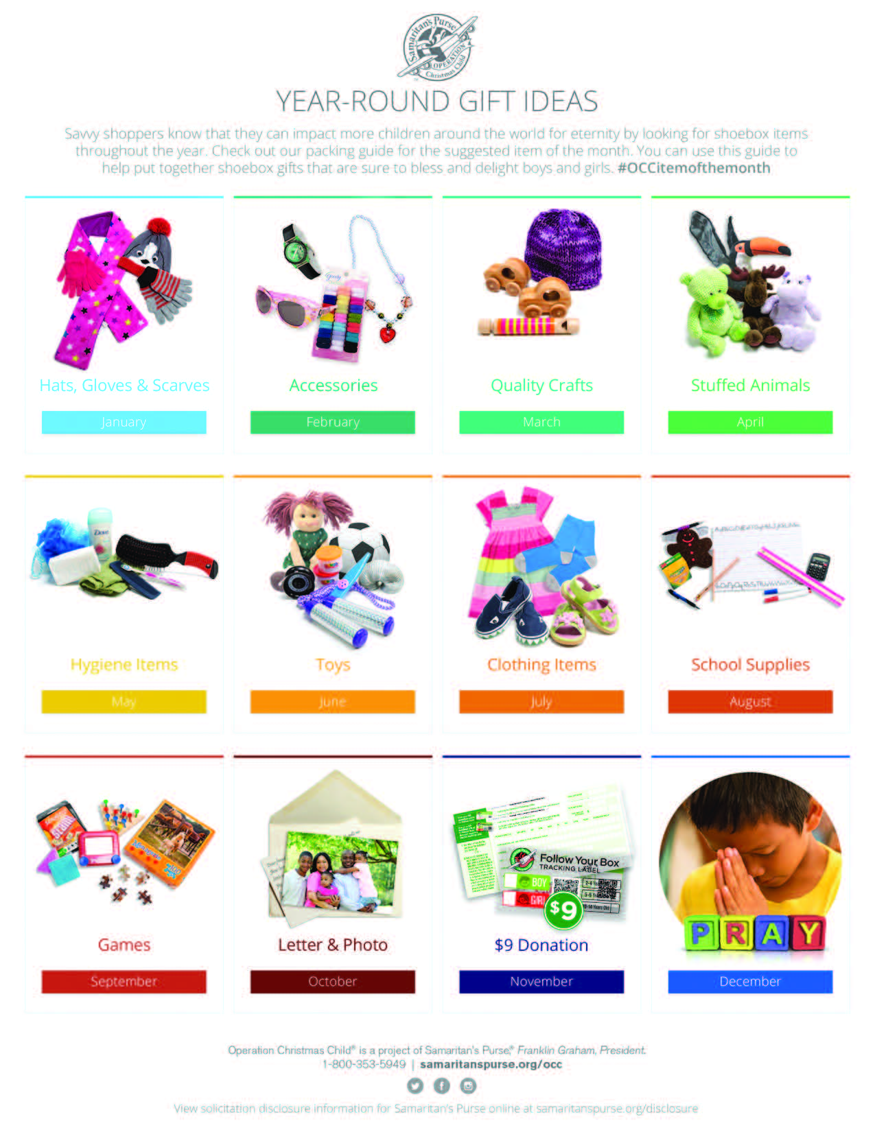 Operation Christmas Child 2021 Collection List