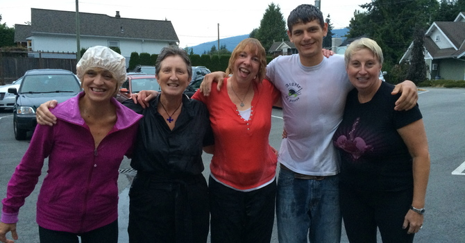 Plucky Parish Councillors take ice bucket challenge! image