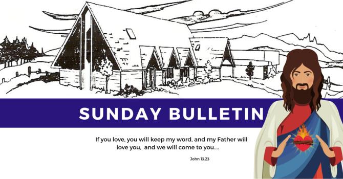 Bulletin - Sunday, May 26, 2019