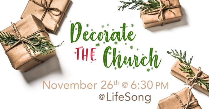 Church Family Night - Decorate the Church