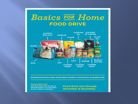 Harvest Project Donations - Food Basics Drive