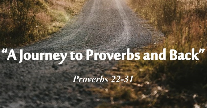 """Poets Week 5: """"A Journey to Proverbs and Back"""""""