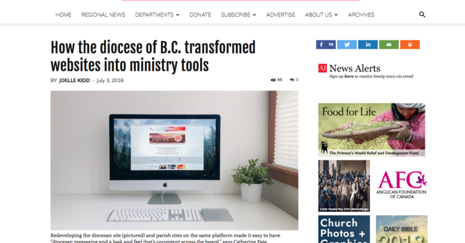 Diocese of islands and inlets makes national news image