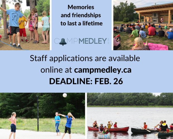 Camp Medley is hiring!