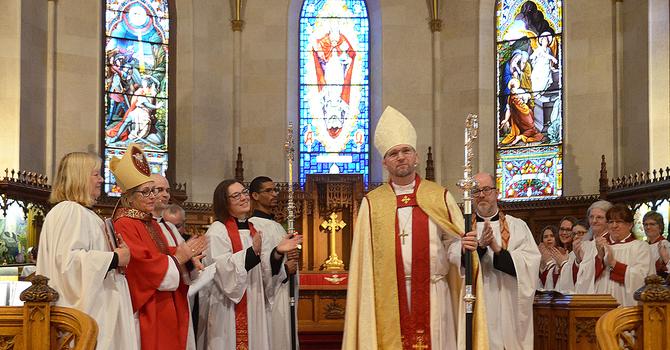 Todd Townshend seated as the 14th Bishop of Huron image