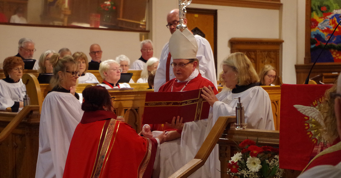 'Thank you for the chance to serve in this diocese' image