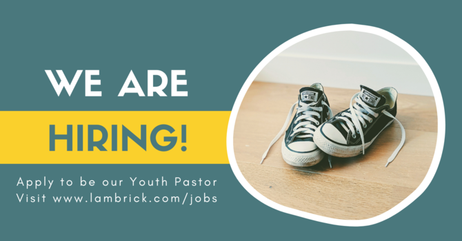 Youth Pastor - Job Opportunity image