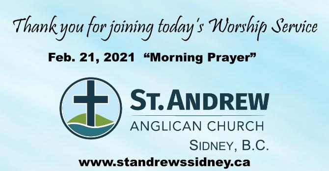 Feb. 21, 2021 Online Morning Prayer image