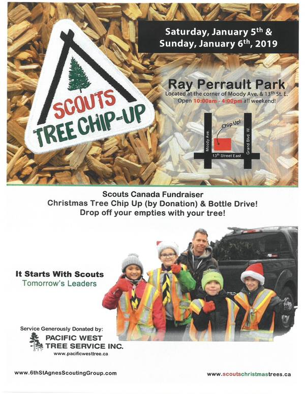This weekend: Scouts Tree Chip-Up