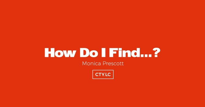 How Do I Find...?