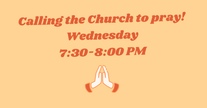Calling the Church to Pray! image