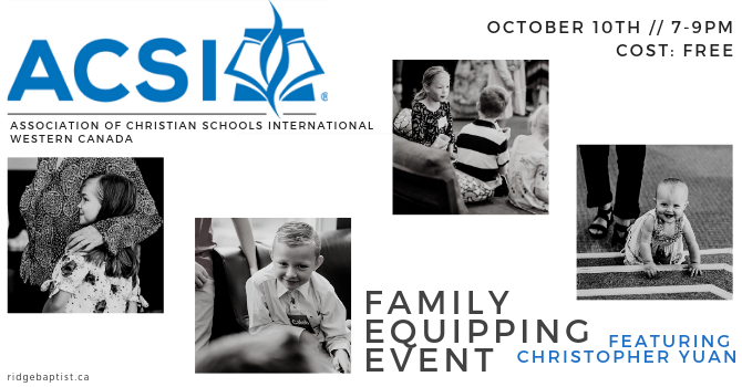 ACSI CONFERENCE - FAMILY EQUIPPING EVENT