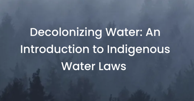 Decolonizing Water: image