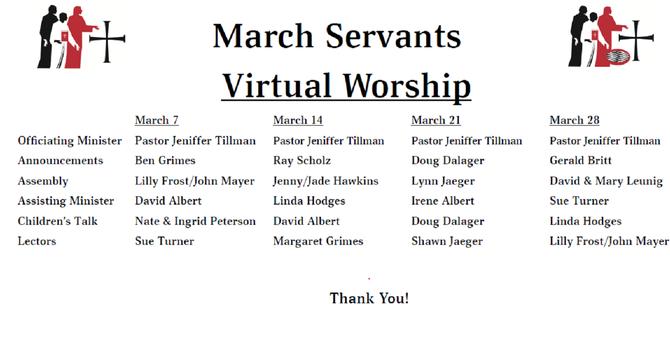 Servants List - Mar. 2021 image
