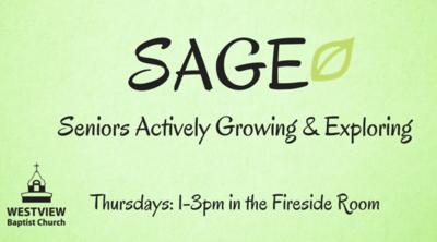 SAGE - Seniors Ministry