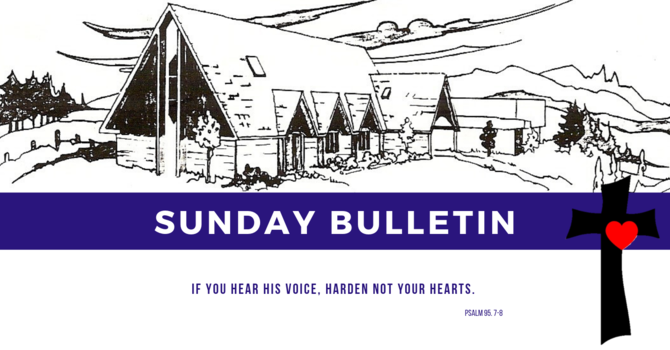 Bulletin - Sunday, March 17, 2019 image