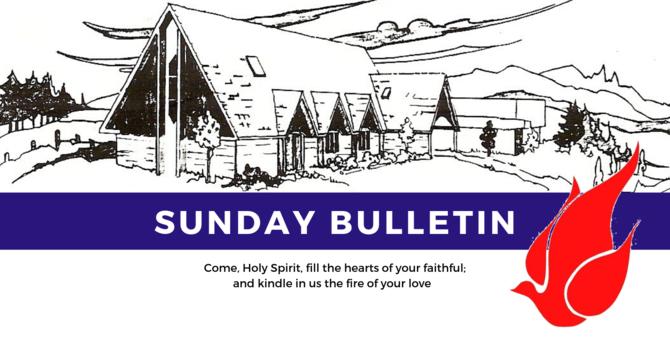 Bulletin - Sunday, June 9, 2019