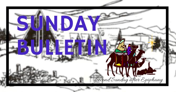 Bulletin - Sunday, January 20, 2019