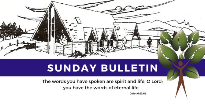Bulletin - Sunday, July 14, 2019 image