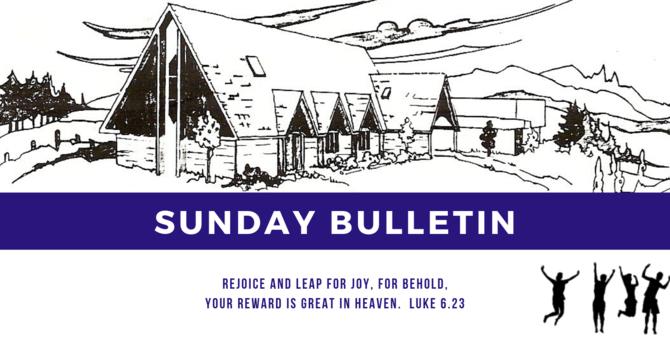 Bulletin - Sunday, February 17, 2019