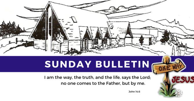 Bulletin - Sunday, July 28, 2019 image