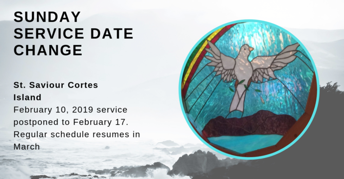 Date Change for St. Saviour Cortes Island Service image