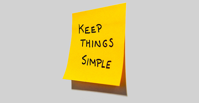Keep it simple... because it is. image