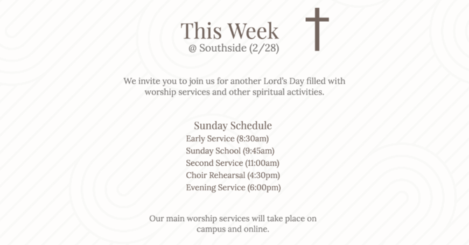 This Week at Southside (2.28.20) image