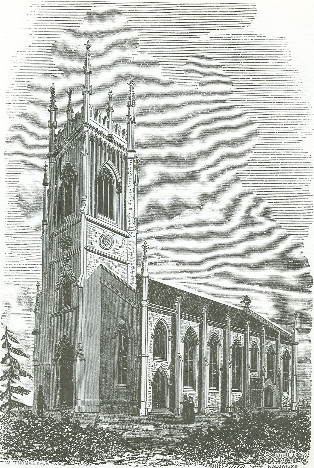 Pen and Ink drawing of the early Cathedral
