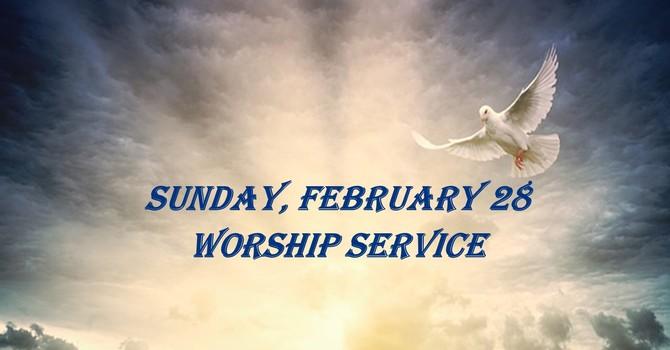 Sunday, February 28 Worship Service image