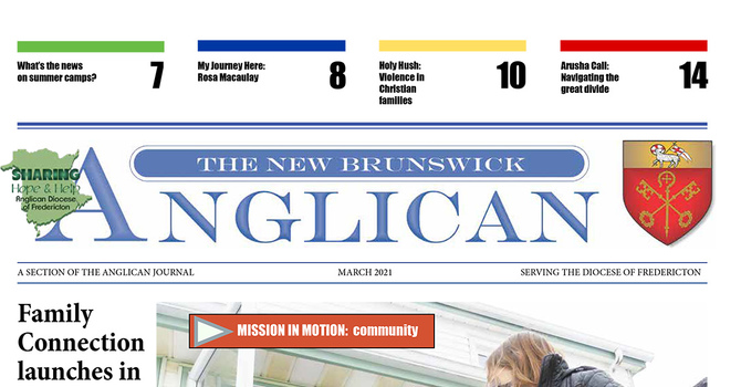 March edition of the NB Anglican