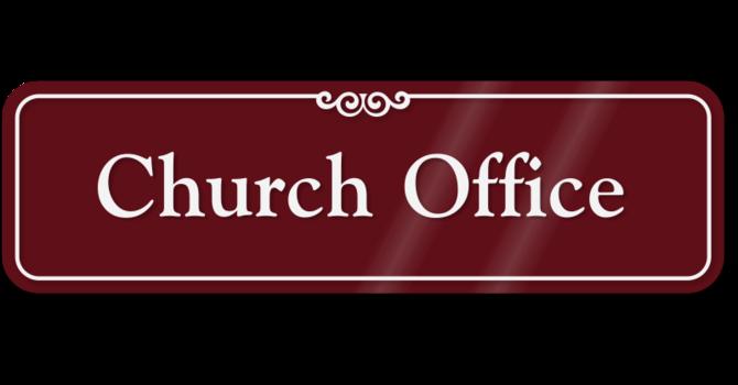 Church Office is Open