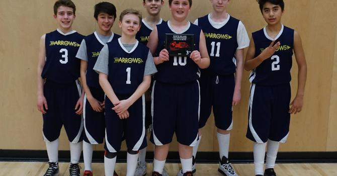 Gr. 8 boys win third place in the North Island basketball tournament! image