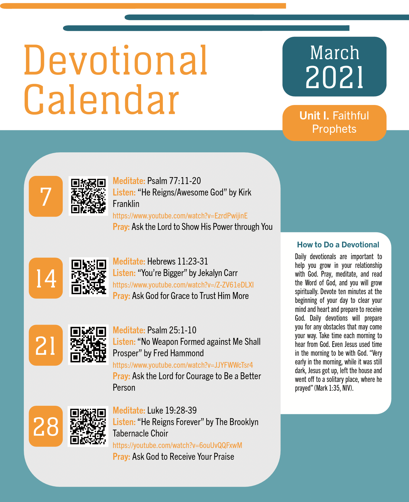 March 2021 Devotional