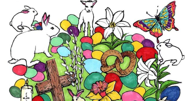 EASTER COLORING PAGE image