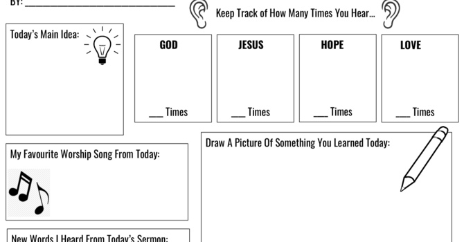Kid's Series Sermon Notes image